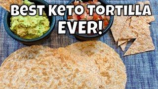 """Best Keto Tortilla EVER - """"Pan Head"""" Dough - Lupin Flour - 1g net carbs"""