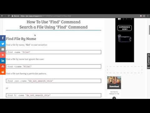 Find command tutorial | How to use Find command in linux