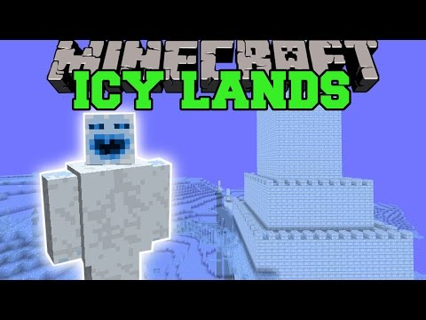 Minecraft: THE ICY LANDS (DIMENSION OF PUNS, MOBS, & STRUCTURES!) Mod Showcase