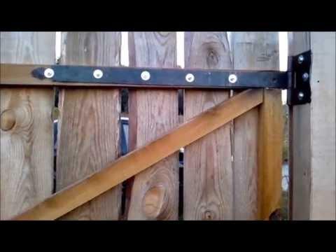 Петли для деревянных ворот - YouTube