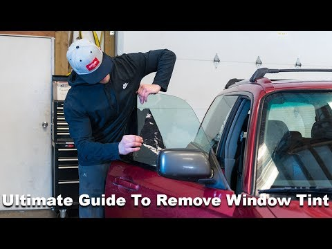 How To Remove Window Tint and Glue In Less Than 5 Minutes