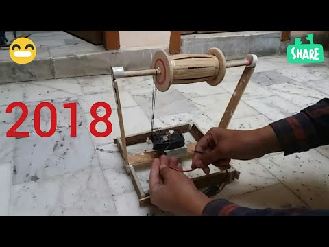 How to make Electric Firki or Charkha motorize Step by Step 2018
