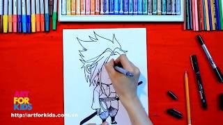 How to draw-Hướng dẫn bé học vẽ tranh Chibi Sasuke Manga đơn giản
