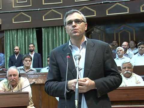 Omar Abdullah in his 90 minute extempore speech in the assembly