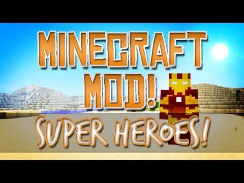 Minecraft mod super heroes iron man hulk spiderman how to make