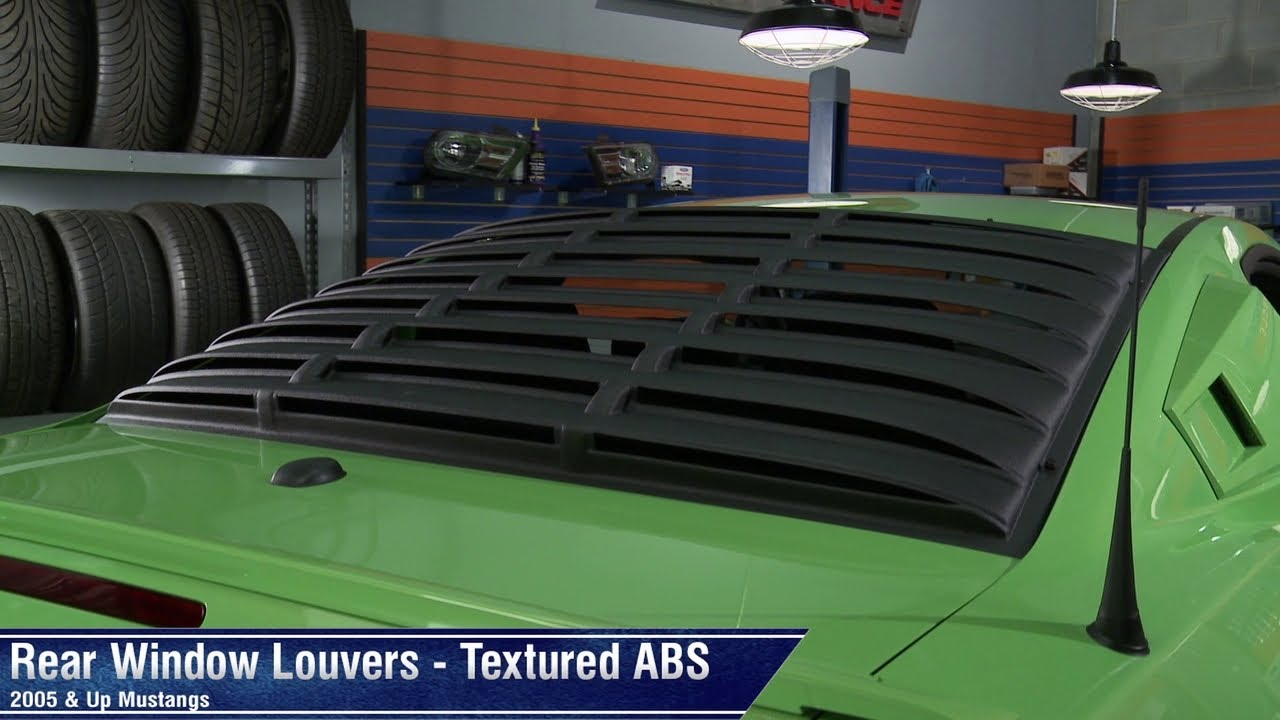 for 05 mustang rear window louvers