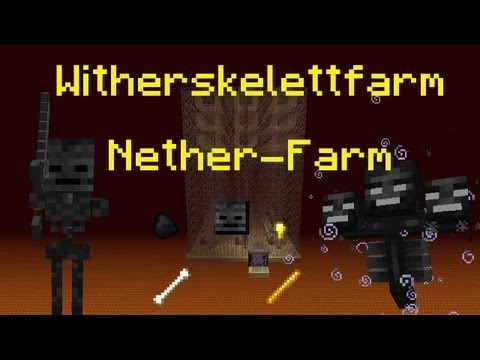 Minecraft Tutorial: Witherskelett Farm Nether Farm PMT061 DE HD