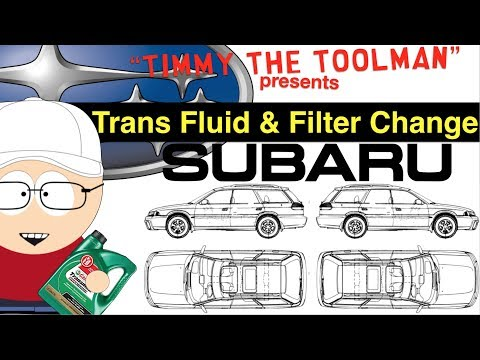 Subaru Outback Transmission Fluid and Filter Change