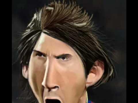 """Speed Painting : Caricatura de Lionel Messi """" El mejor jugador del Mundo"""" by esf"""