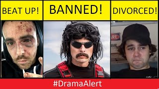 David Dobrik DIVORCED! -  Dr DisRespect BANNED! #DramaAlert & much more (FOOTAGE)