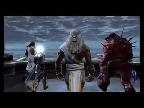 God of War 3: R - Opening Mount Olympus Titans Vs Gods Battle (Gaia, Zeus, Kratos) 1080p 60FPS PS4