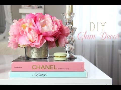 DIY – Glamorous Decorations For A Girly Office, Makeup room, Vanity