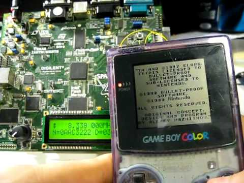 Gameboy Color extreme overclocking