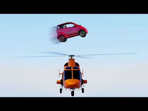 IMPOSSIBLE HELICOPTER CAR STUNT! (GTA 5 Funny Moments)