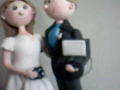 Novios de casamientos pasta flexible