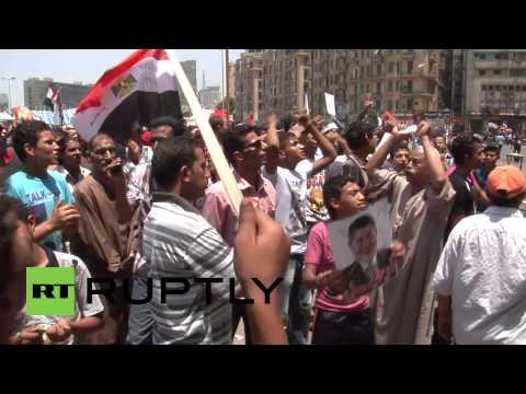 Egypt: Anti-Morsi protesters burn US ambassador photo