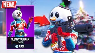 New SLUSHY SOLDIER Snowman Skin!! // Pro Fortnite Player // 1700 Wins // Fortnite Live Gameplay