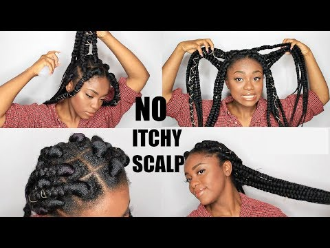HOW I MAINTAIN MY BOX BRAIDS (NO ITCHY SCALP)