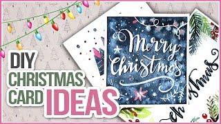 Easy DIY Watercolor Christmas Card Ideas