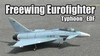 Eurofighter Typhoon V2 90MM EDF Thrust Vectoring RC Jet ~ Freewing