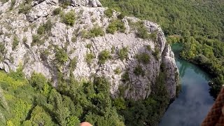 An adrenaline entertainment  ZipLine of Omis Riviera, Dalmatia | Croatia