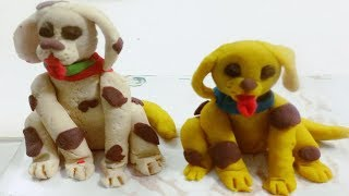 Polymer Clay Toy = How To Make Dog   art and craft