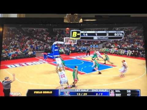 nba 2k14 my rookie pistons vs bucks