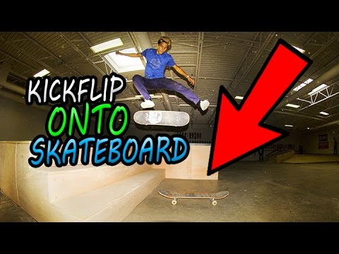 Kickflip STAIRS Onto Another BOARD!? JOHN HILL!