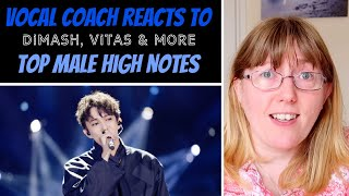 Vocal Coach Reacts to TOP High Notes 'Male' Vitas, Dimash, Leo Gonc?alves, David Phelps & More