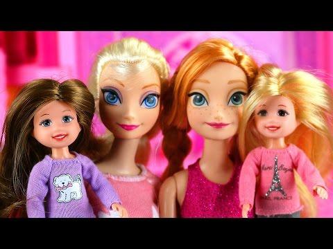 Frozen Anna y Elsa Cuidan a las Hijas Traviesas de Disney Cenicienta
