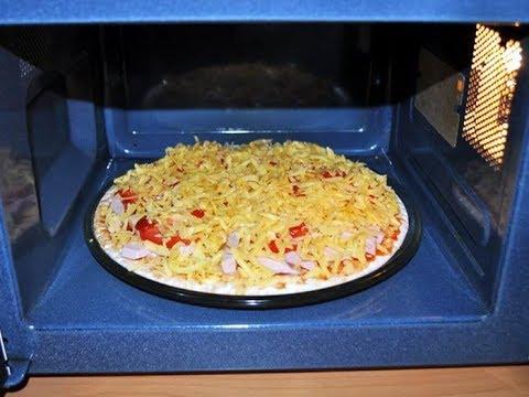 Как сделать пиццу в микроволновке