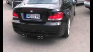 BMW E82 4-Rohr M1-Look Edelstahlanlage am 125i mit Diffusor made by insidePerformance