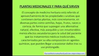 Plantas Medicinales Y Para Que Sirven - Cúrese Naturalmente Con Plantas Medicinales - Uso