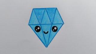 สอนวาดรูปเพชร💎Daimon Drawing & Coloring for kids, toddlers. HappyKidsArtToy.