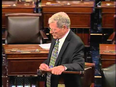 Sen. Jim Inhofe speaks on the Senate floor about Sen. Tom Coburn
