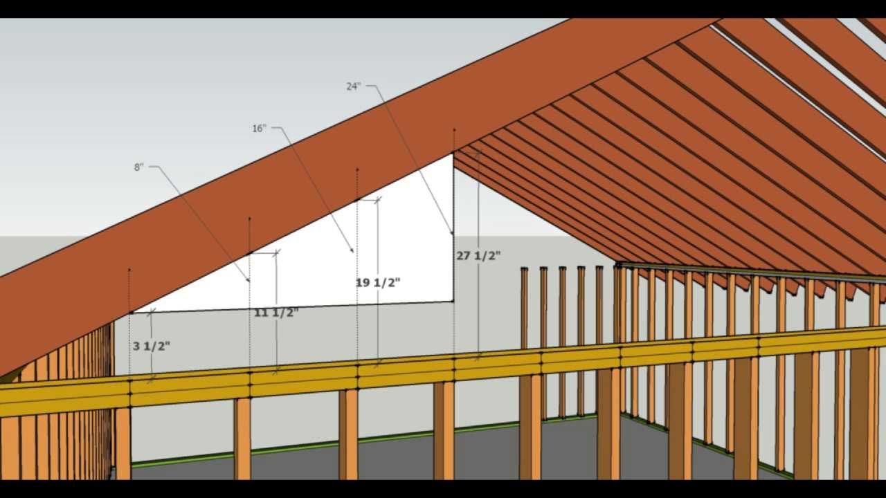 How To Cut Gable Studs Formula Advanced Carpentry And