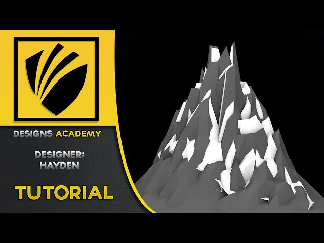 How to make Low Poly Moutains| w/ Hayden