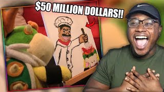 JUNIOR BECOMES A FAMOUS ARTIST! | SML Movie: Bowser Junior's Painting Reaction!