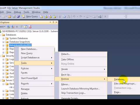 Recovery Advisor Feature in SQL Server 2012