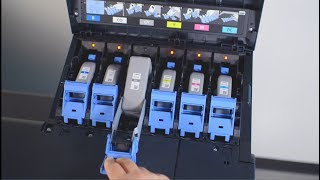 03. How to replace ink tanks on the Canon iPF PRO series of printers