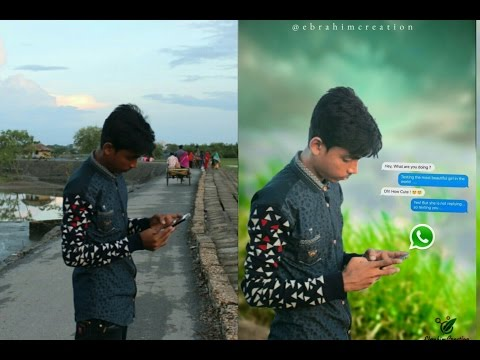 Picsart creative photo manipulation tutorial - chating with friend