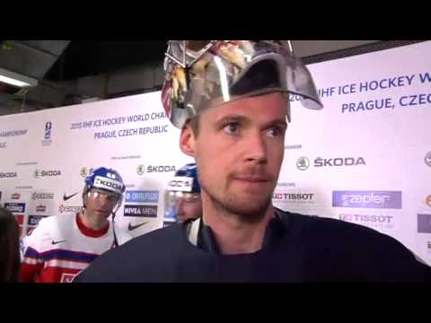 Pekka Rinne Interview after the game against Czech Republic 2015-05-14 IIHF 2015 WC