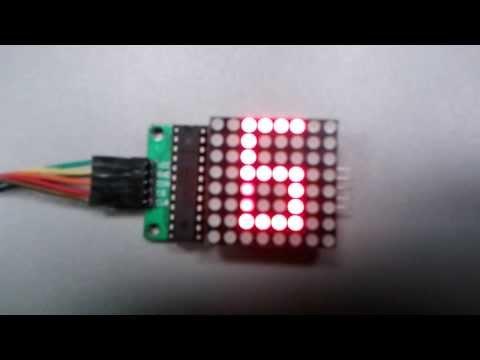 Panel luminoso de Matrices LED 8x8 con driver MAX7219