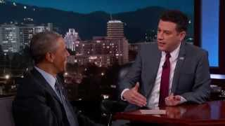 El Presidente Barack Obama con Jimmy Kimmel