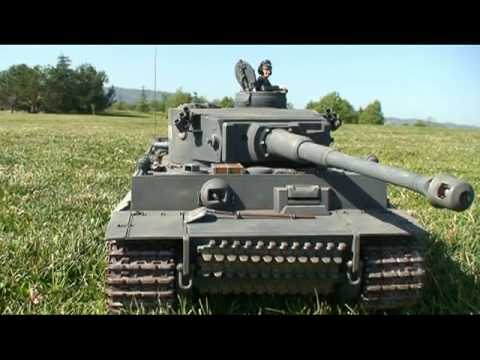 GERMAN TIGER TANK on the FIELD. RC TANK by TAMIYA 1:16 Scale
