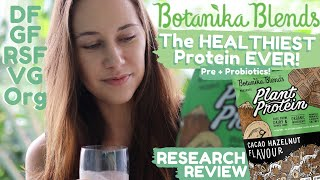 The HEALTHIEST Vegan Protein Powder + Pre & Probiotics! | Botanika Blends Plant Protein Review