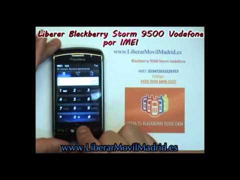Liberar Blackberry Storm 2 9500 Vodafone por Código IMEI - www.LiberarMovilMadrid.es