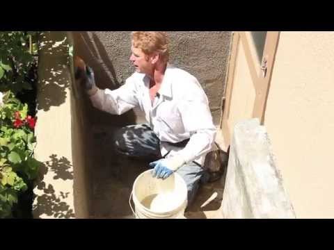 How to plaster and or Skim coat concrete. plastering cement walls