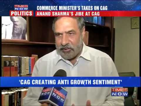 Anand Sharma's jibe at CAG