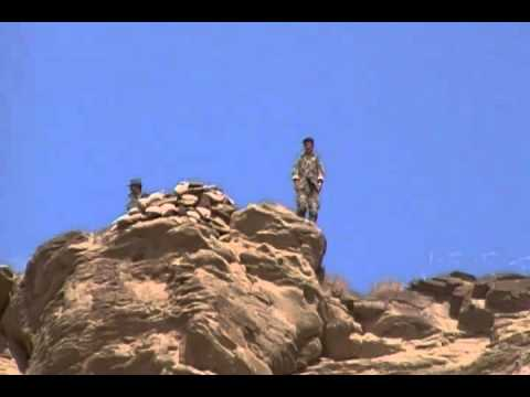 AFGHAN SOLDIERS ATOP ZAR HOWZA MOUNTAINS  OBSERVATION POST 10.12.2011..MP4